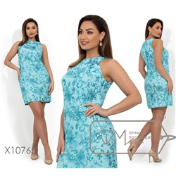 4adee686fbc Платье футляр-мини из вискозы с пайетками на сетке и молнией вдоль спинки  X10765