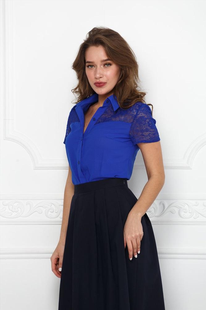 Блузка с гипюровыми вставками доставка
