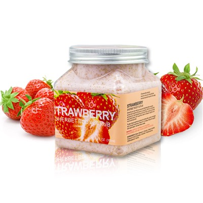 Скраб для тела с Клубникой Wokali Strawberry Sherbet Body Scrub (арт. 448), 350 ml